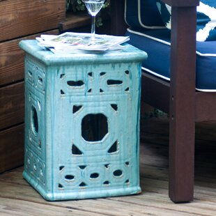 Lattice Square Frame Garden Stool