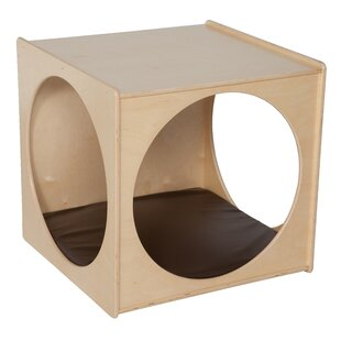 Contender Imagination Cube Kids Stool with Cushion by Wood Designs