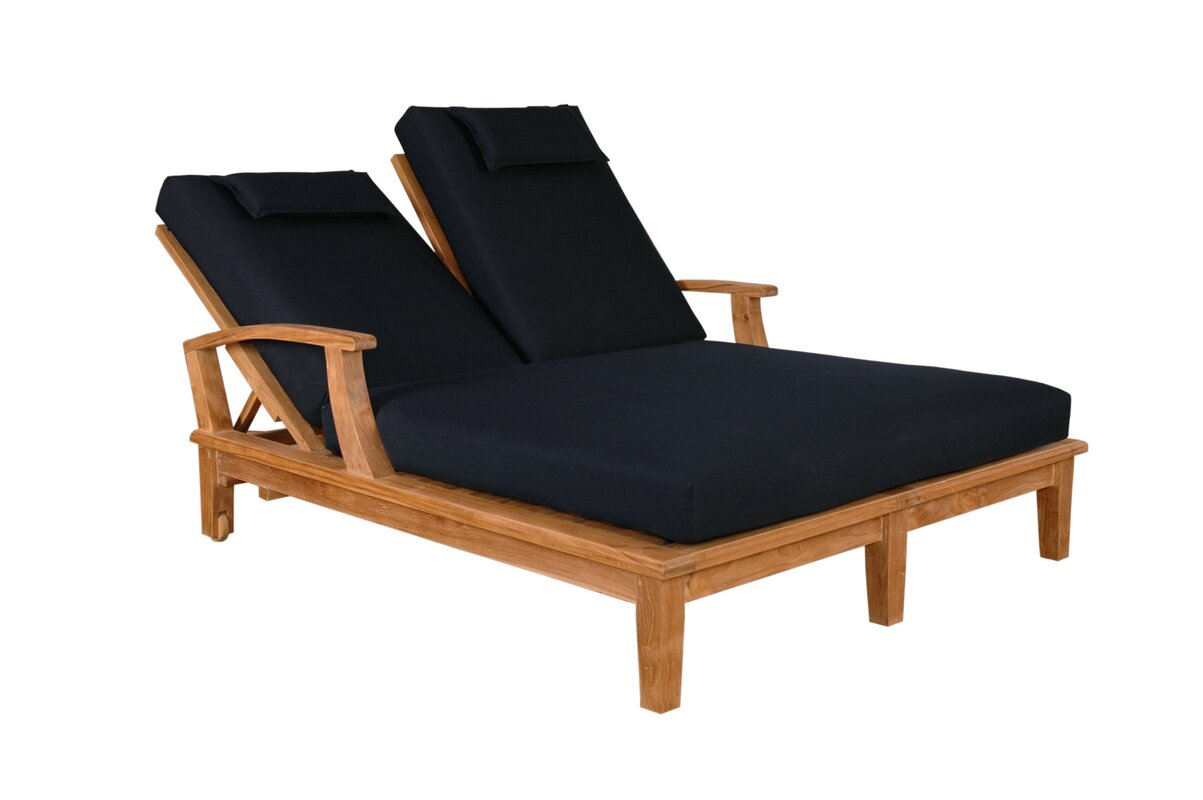 anderson teak brianna double chaise lounge  reviews  wayfair - brianna double chaise lounge