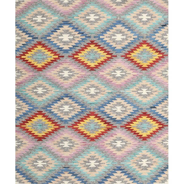 East Urban Home Contemporary Red Yellow Pink Area Rug Wayfair