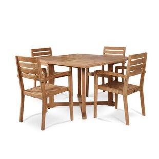 Vang Teak 5 Piece Dining Set