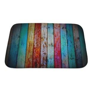 Inexpensive Wood Vintage Wood Bath Rug ByGear New