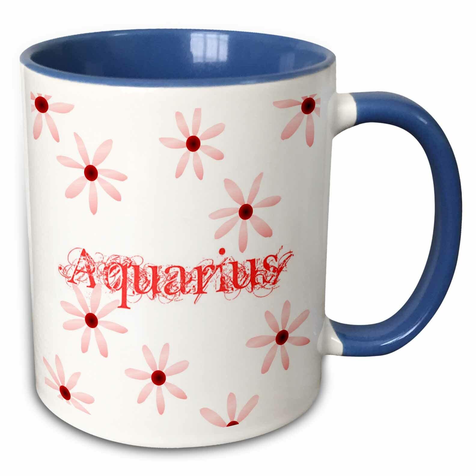 Winston Porter Free Aquarius Flowers Coffee Mug Wayfair