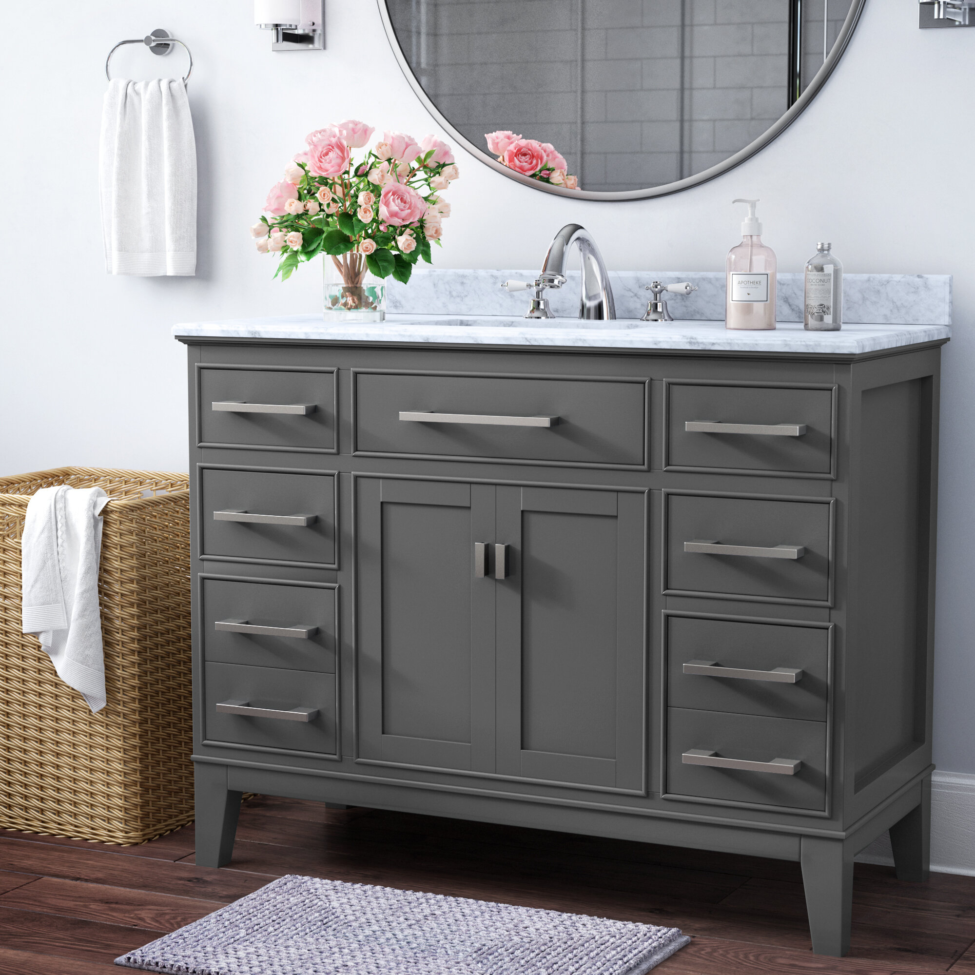 "Arminta 7"" Single Bathroom Vanity Set"