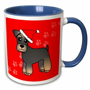 Stearns Miniature Schnauzer Banded Base Coat Coffee Mug