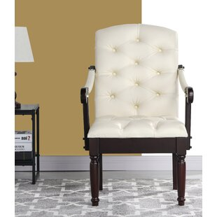 Diamondback Traditional Upholstered Dining Chair by Charlton Home Great Reviews