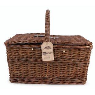 Seaside 20 Piece Cape Cod Wicker Picnic Basket Set