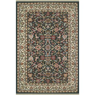 American Home Clic Kashan Navy Ivory Area Rug