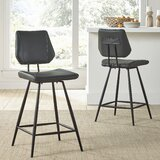 Greaney 24 Swivel Bar Stool (Set of 2) by Williston Forge