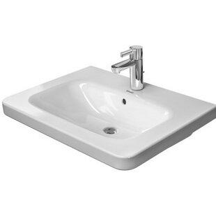 DuraStyle Ceramic 26 Wall Mount Bathroom Sink with Overflow Duravit