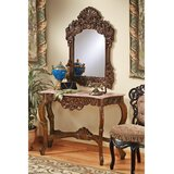 The Dordogne 47 Solid Wood Console Table and Mirror Set by Design Toscano