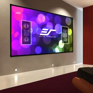 Sleek White 135 Fixed Frame Projection Screen