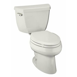 Best Reviews Wellworth 1.0 GPF (Water Efficient) Elongated Two-Piece Toilet (Seat Not Included) By Kohler
