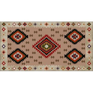 Reliford Beige/Red Indoor/Outdoor Area Rug