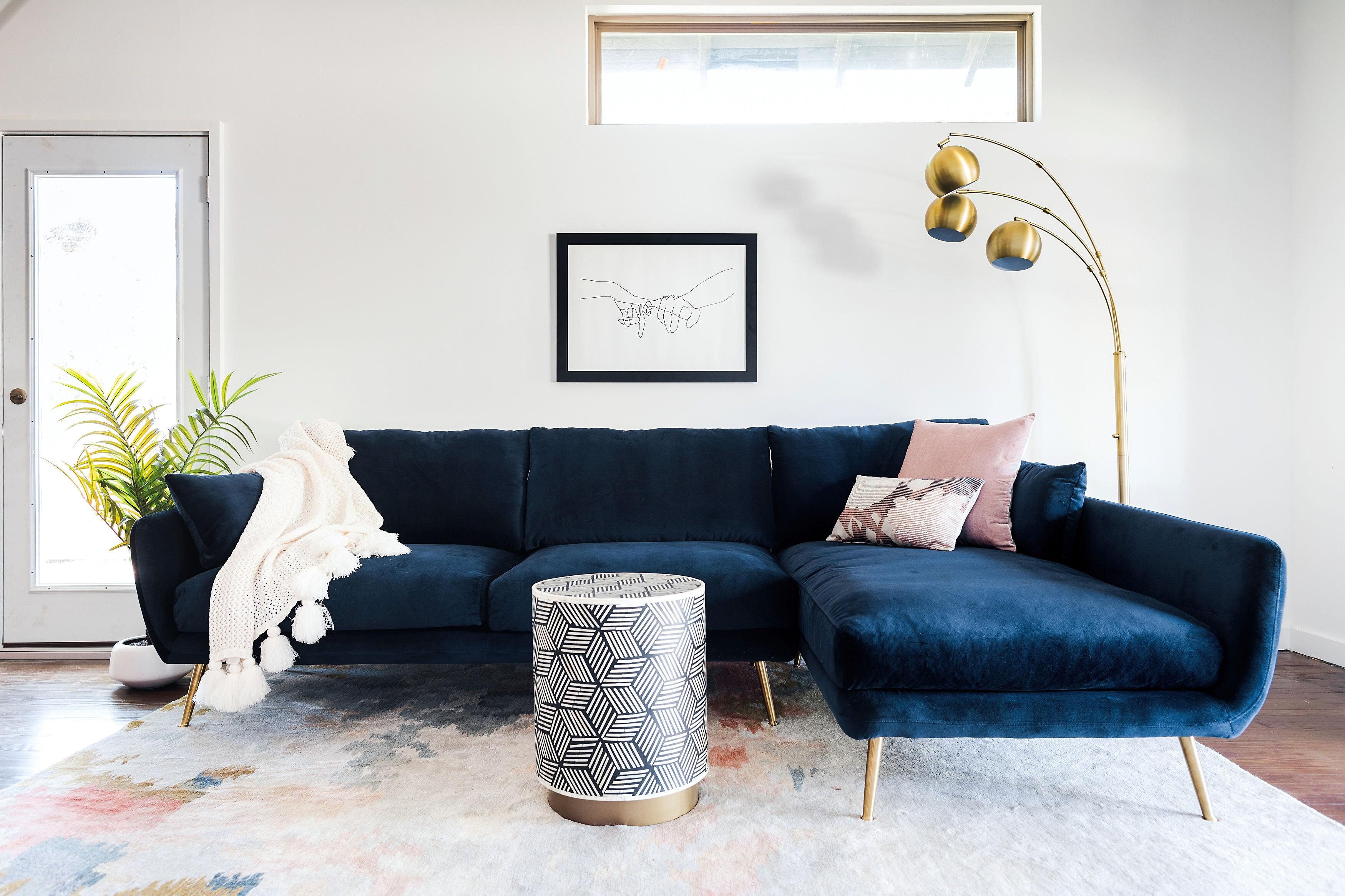 Modern Blue Sectional Sofas Allmodern