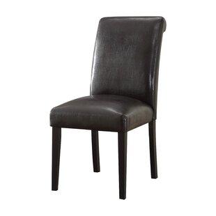 Ellettsville Upholstered Rolled Back Dining Chair (Set of 2) by Alcott Hill