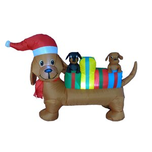 4 Foot Long Christmas Dog Decoration