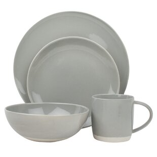 Shell Bisque 4 Piece Place Setting, Service for 1