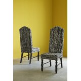 Viscose Upholstered Solid Back Side Chair in Black by Phillips Collection