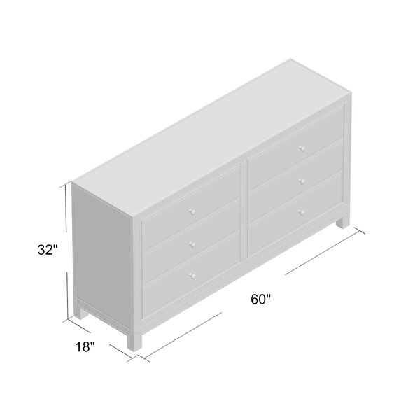Willa Arlo Interiors Tracey 6 Drawer Double Dresser Reviews Wayfair