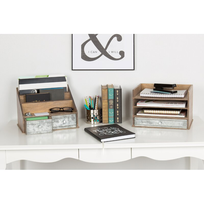 Marvelous Industrious Desktop Wood Letter Tray With 3 Trays And Drawer Download Free Architecture Designs Oxytwazosbritishbridgeorg