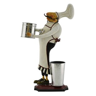 Barney Chef With Two Buckets Kitchen Restaurant Decoration Stand Figurine