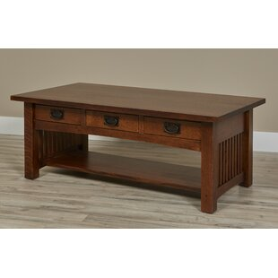 Linnea 3 Drawer Coffee Table with Storage