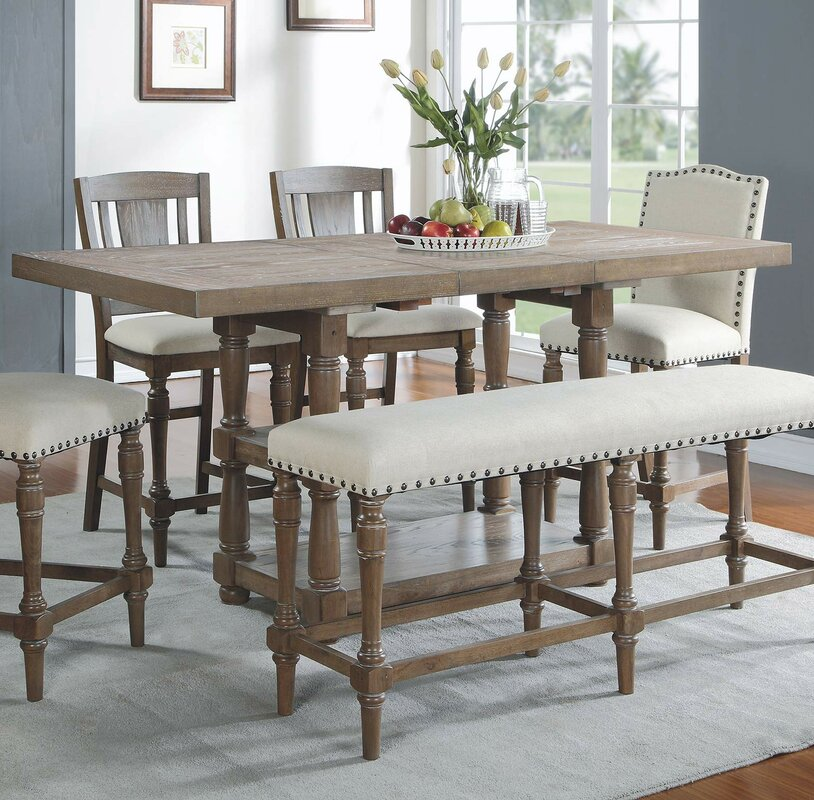 Laurel Foundry Modern Farmhouse Fortunat Counter Height Extendable ...