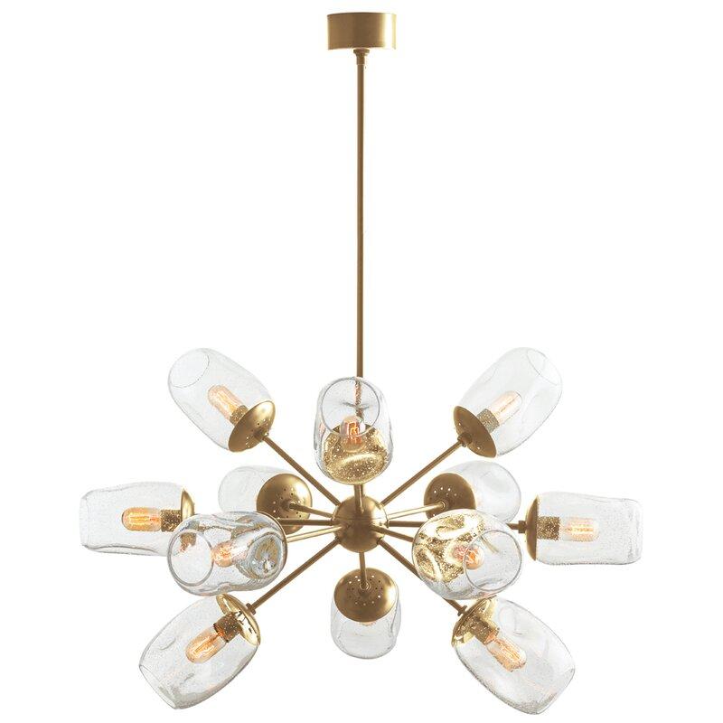Arteriors home ramirez 12 light sputnik chandelier reviews wayfair ramirez 12 light sputnik chandelier aloadofball Gallery