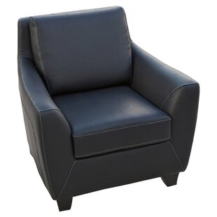 Konz Bonded Leather Armchair by Home Loft Concepts