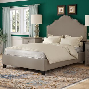 Galesburg Queen Upholstered Panel Bed by Three Posts