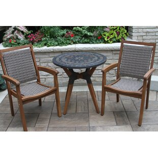 Rhett Slate 3 Piece Bistro Set