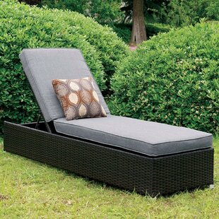 Garton Patio Chaise Lounge with Cushion