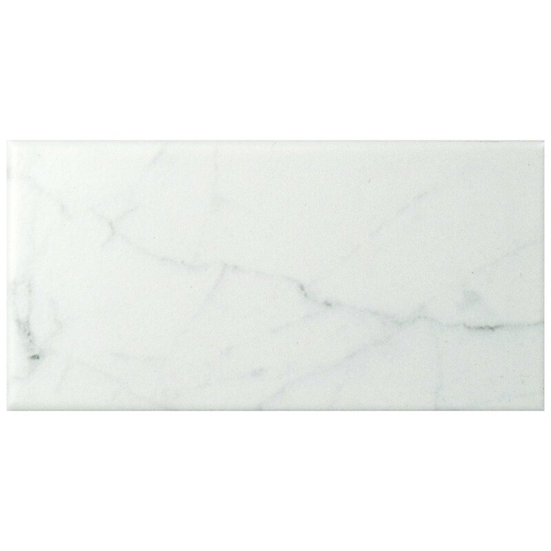 Karra Carrara 3 Quot X 6 Quot Ceramic Subway Tile In Matte White
