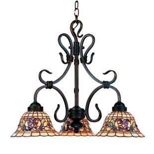 Check Prices Barksdale 3-Light Shaded Chandelier By Fleur De Lis Living