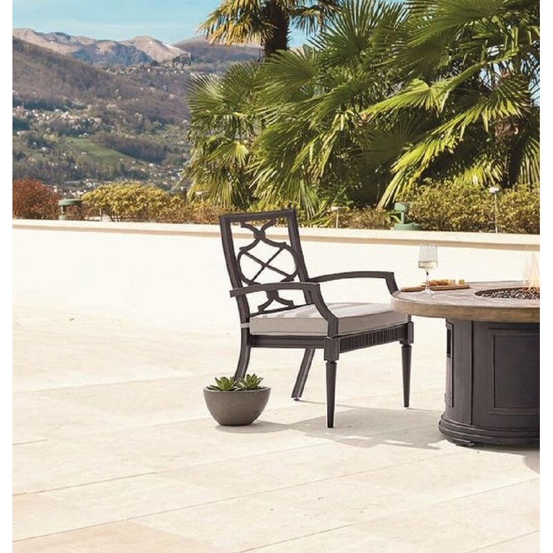 Canora Grey Euston Patio Dining Chair with Cushion