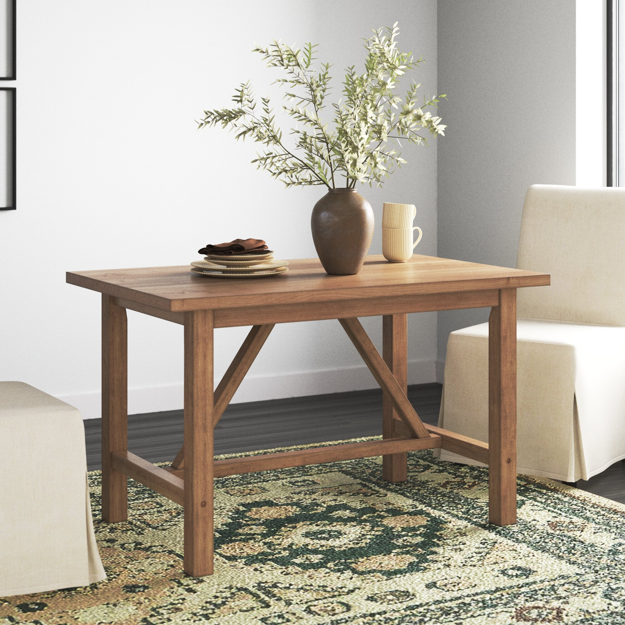 Gracie Oaks Lonergan Dining Table Reviews Wayfair Ca
