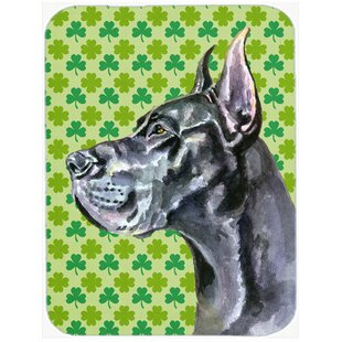 Review Shamrock Lucky Irish Great Dane St. Patrick's Day Glass Cutting Board By Caroline's Treasures