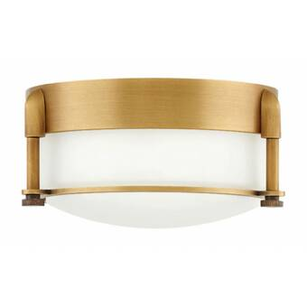 Darby Home Co Byrnedale 3 Light 16 75 Simple Bowl Flush Mount