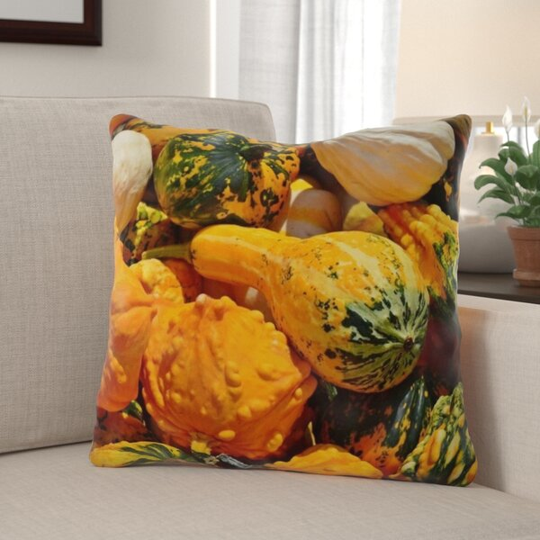The Holiday Aisle Gurganus Pumpkin Indoor Outdoor Throw Pillow Wayfair