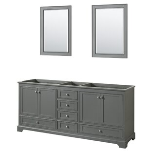 Inexpensive Deborah 79 Double Bathroom Vanity Base Only ByWyndham Collection