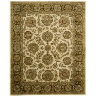 Delaware Ivory/Brown Rug byDarby Home Co