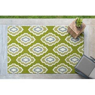 Alpine Bay Hand-Tufted Green Indoor/Outdoor Area Rug ByZipcode Design