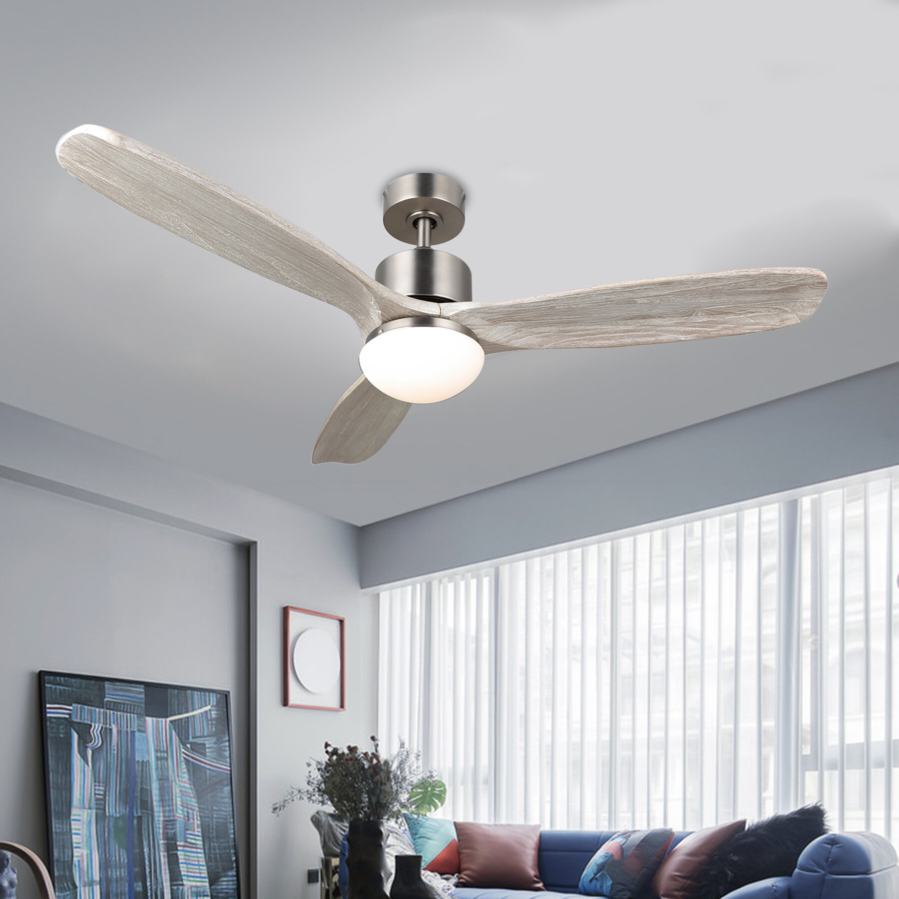 Union Rustic 52 Mayna 3 Blade Led Standard Ceiling Fan With Remote Control And Light Kit Included Reviews Wayfair