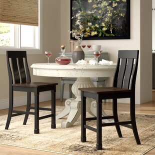 Landrum Solid Wood Dining Chair (Set of 2) World Menagerie