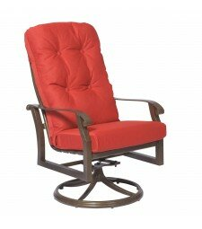 Cortland High Back Swivel Rocking Patio Dining Chair Woodard