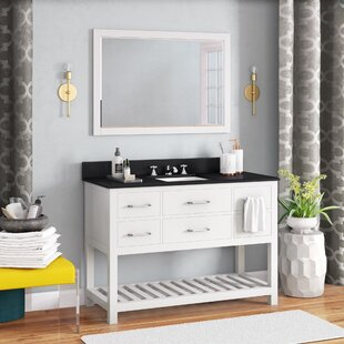 Rishaan 49 Single Bathroom Vanity Set with Mirror By Willa Arlo Interiors