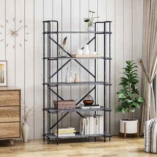 Bostick 5-Tier Etagere Bookcase