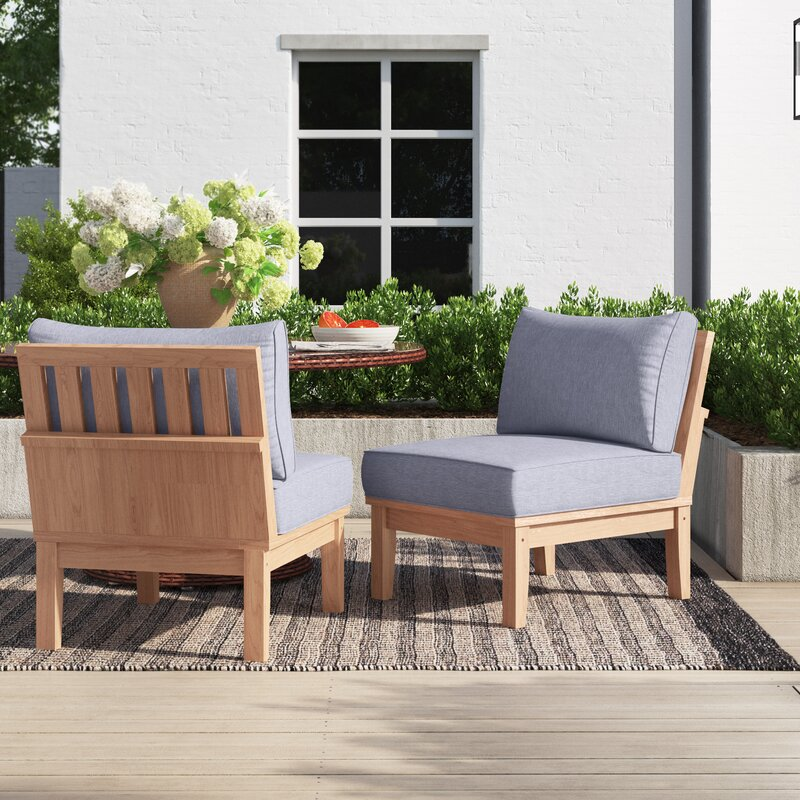Anthony Outdoor Teak Patio Chair With Cushions Joss Main