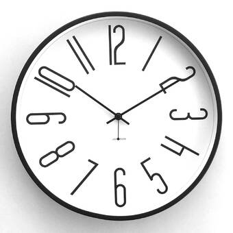 Latitude Run Artistic Psyched Up Abstract Metal Wall Clock